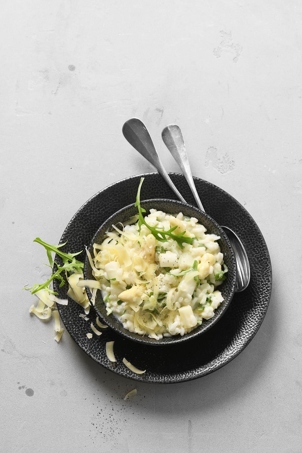 Spargel Risotto von Antje Plewinski Foodfotografie
