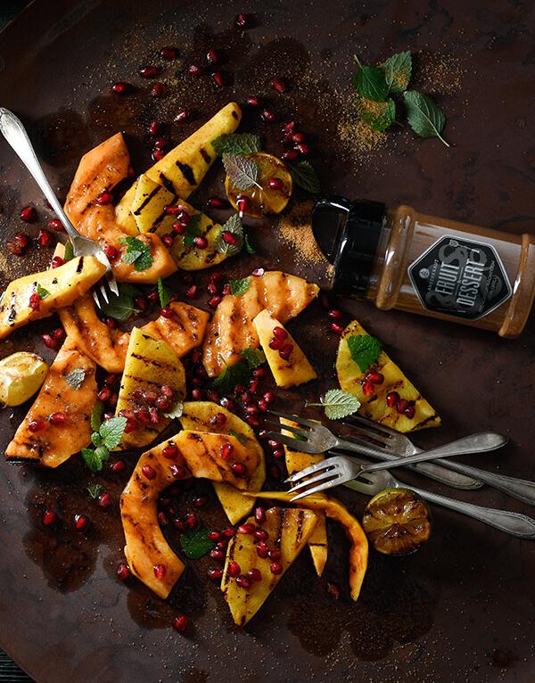 Gegrillter Obstsalat von Antje Plewinski Foodfotografie