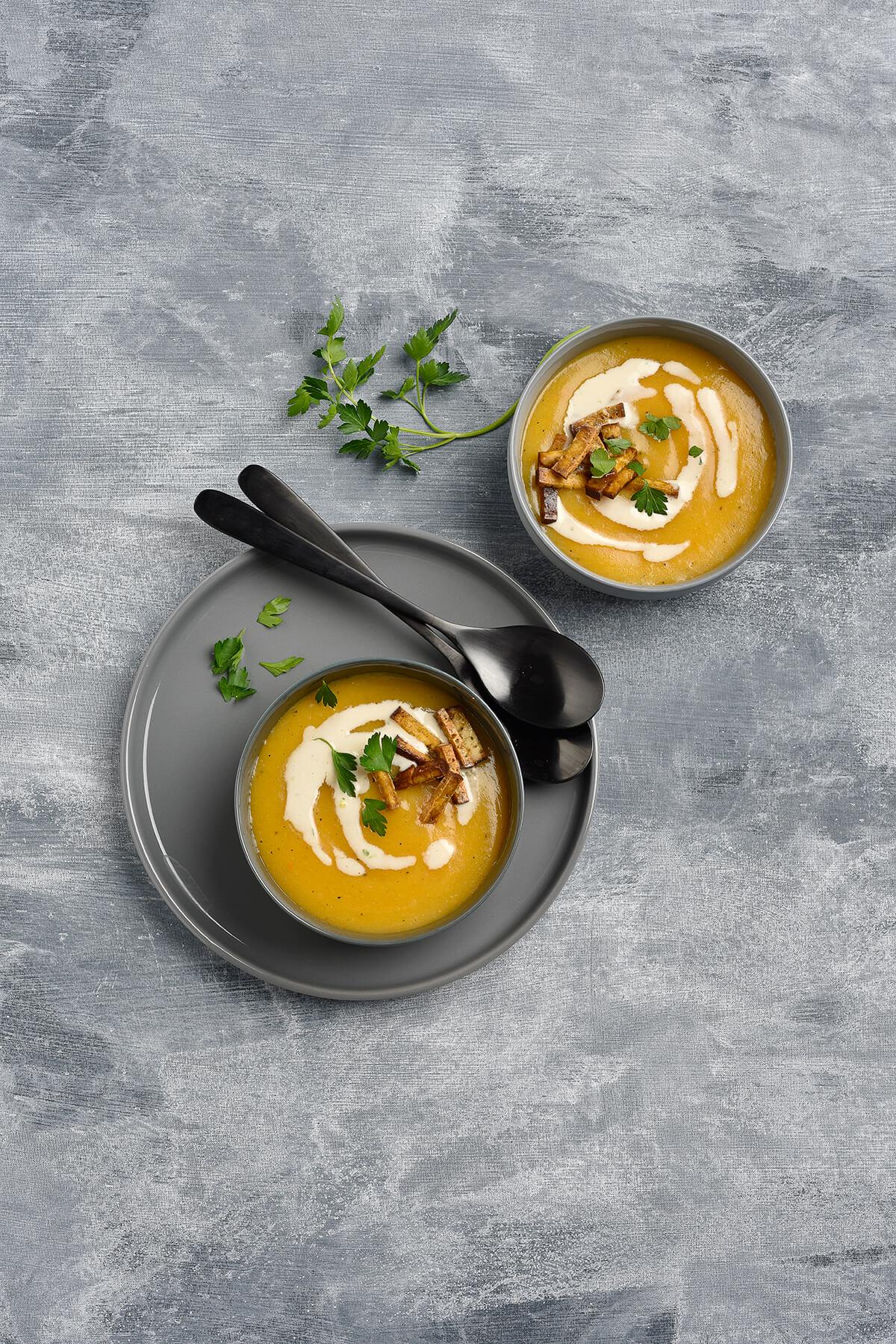 Kartoffel Karotten Lauch Suppe von Antje Plewinski Foodfotografie
