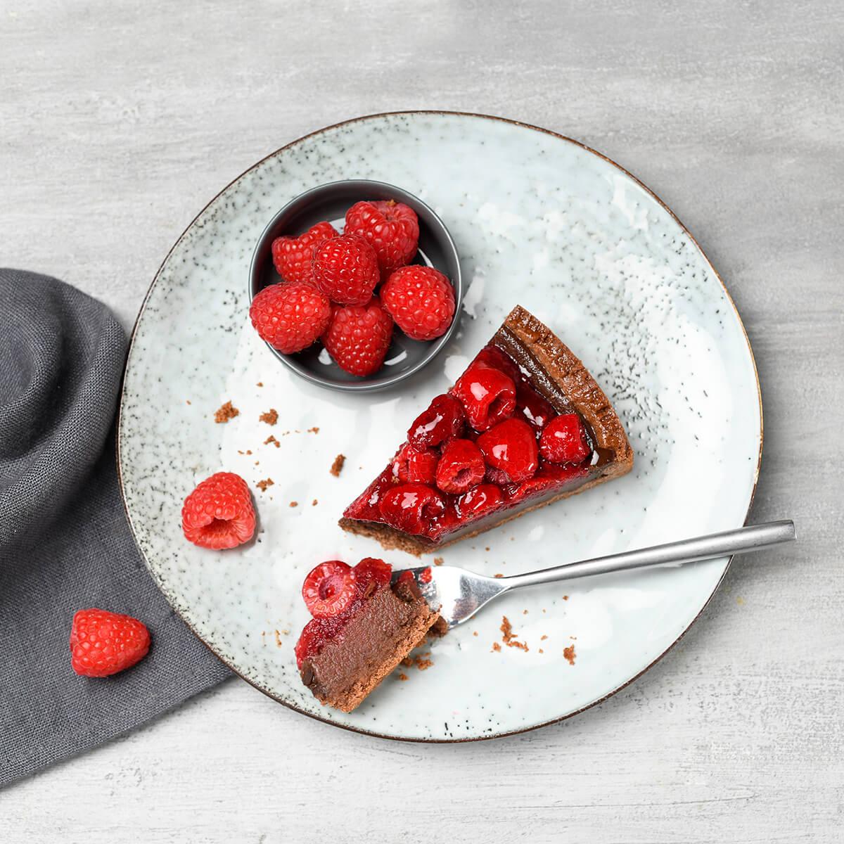 Himbeer Schoko Kuchen von Antje Plewinski Foodfotografie